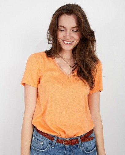 T-shirt orange pâle Karen Damen