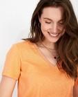 T-shirts - Lichtoranje T-shirt Karen Damen