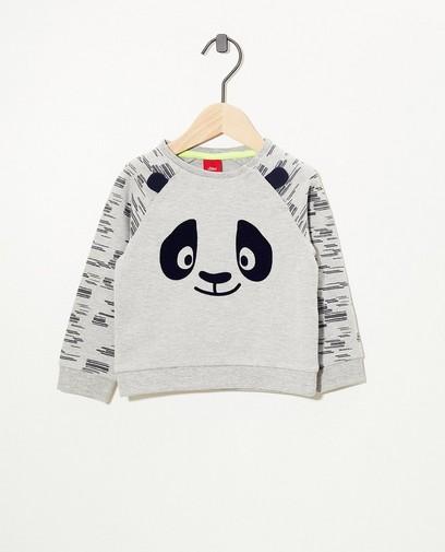Grijze panda-sweater s.Oliver