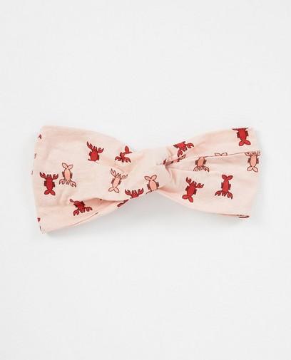 Roze haarband met kreeftprint