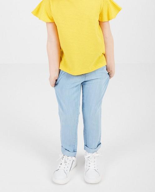 Pantalons - Pantalon bleu clair en lyocell