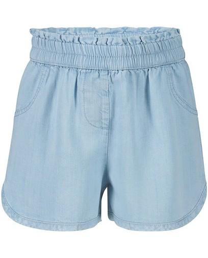 Short bleu clair en lyocell