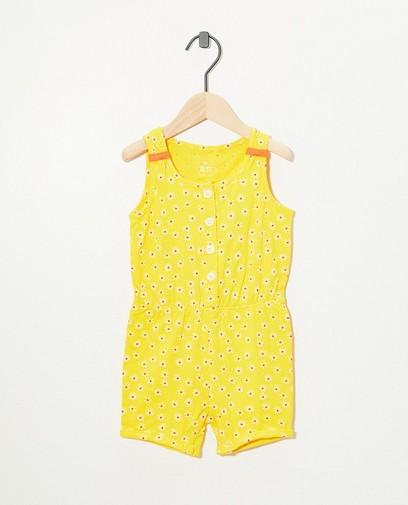 Gele jumpsuit met print BESTies