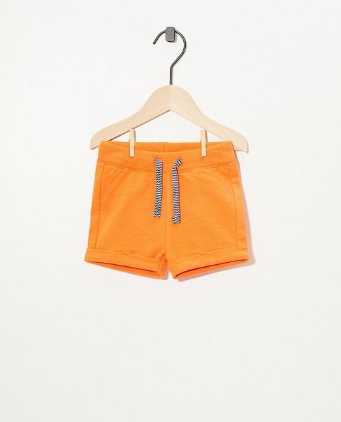 Oranje sweatshort BESTies - effen - Besties