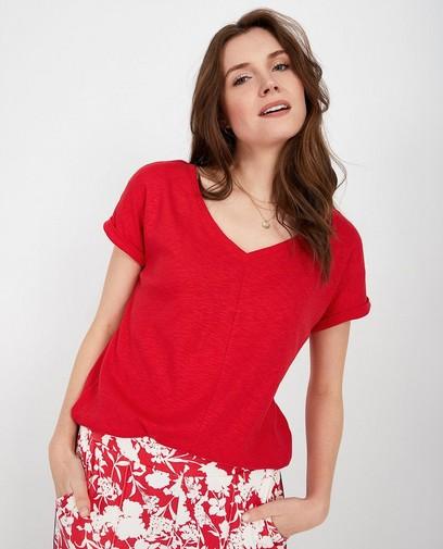 T-shirt rouge Sara De Paduwa