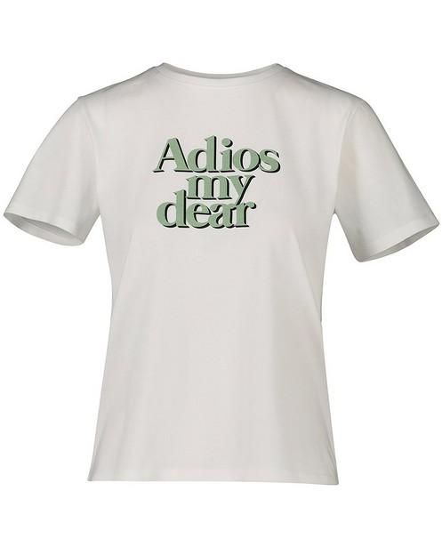 Wit T-shirt met opschrift - in groen en zwart - Groggy