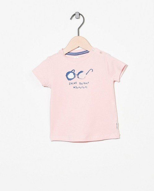 Roze T-shirt met print Tumble 'n Dry - stretch - Tumble 'n Dry