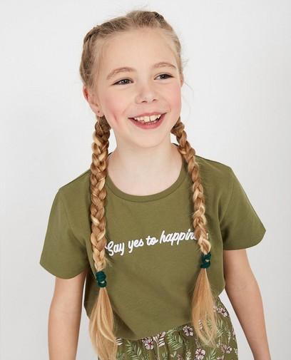 T-shirt vert, inscription