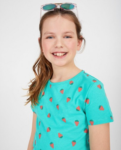 Groen T-shirt met print BESTies