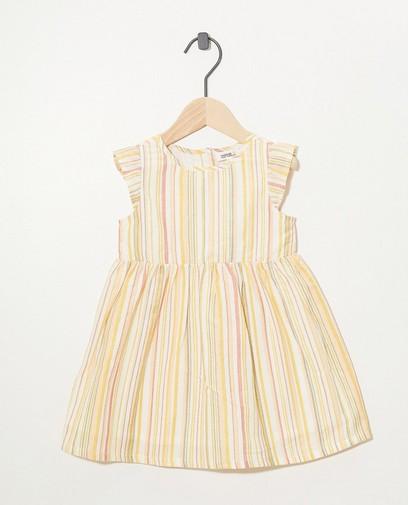 Kleid mit Streifen und Metallfaden