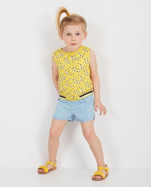 Gele top met bloemenprint - null - Milla Star