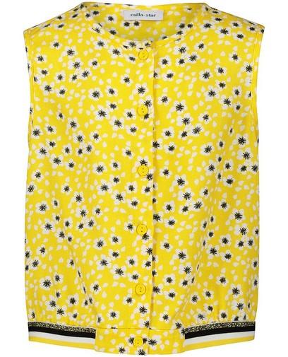 Top jaune, imprimé fleuri