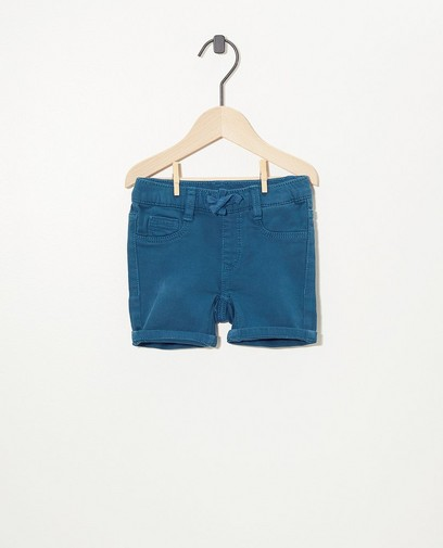 Blauwgroene short van sweat denim