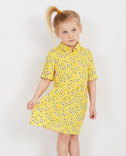 Gele jurk met bloemenprint