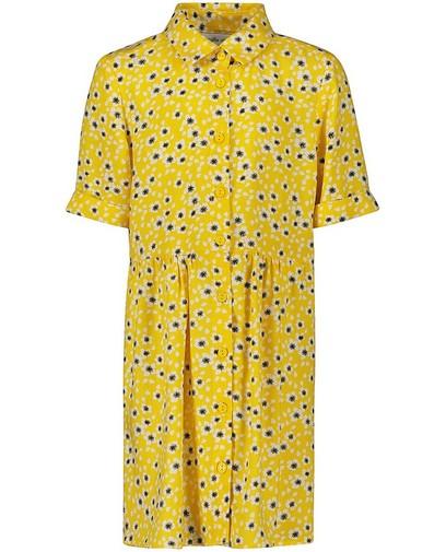 Robe jaune à imprimé fleuri