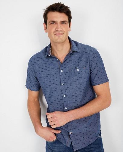 Blauw hemd met print Hampton Bays