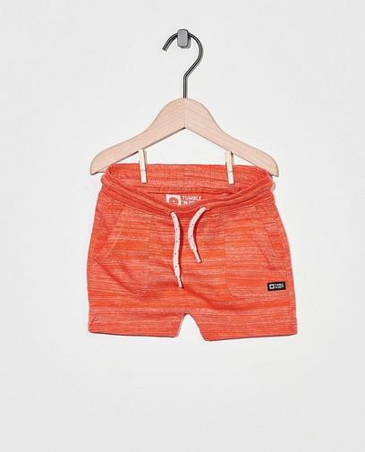 Oranje sweatshort Tumble 'n Dry