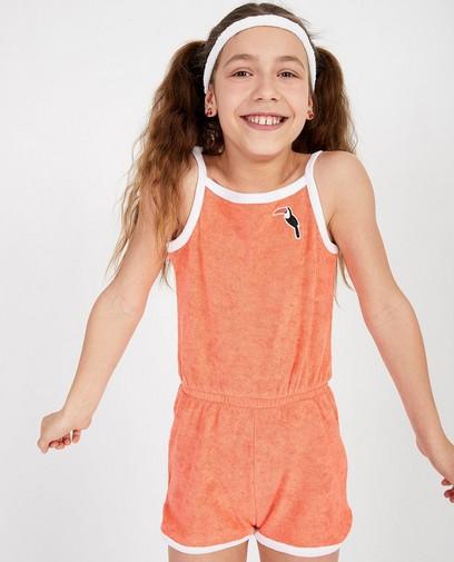 Sponzen jumpsuit in oranje