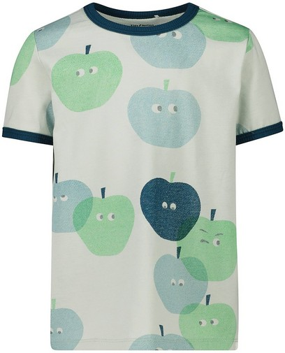 Lichtgroen T-shirt met print