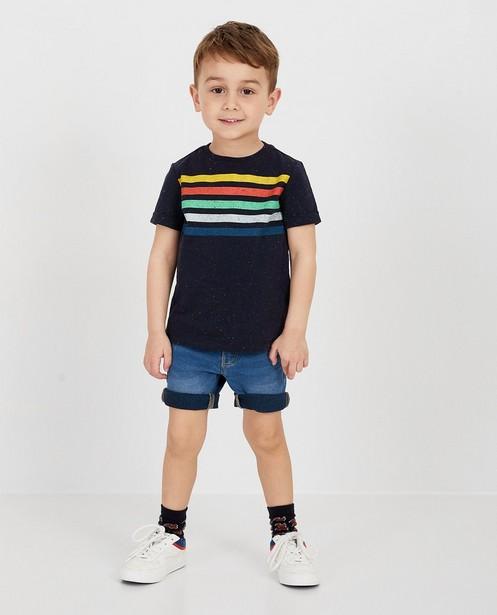 Blauw T-shirt met strepen - null - kidz
