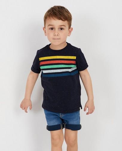 T-shirt bleu rayé