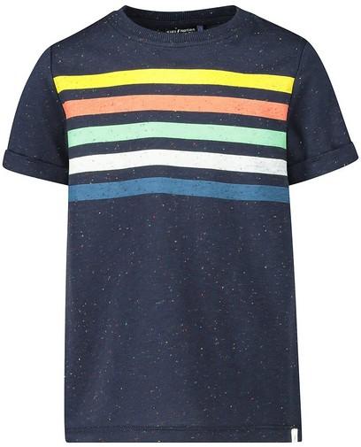 Blauw T-shirt met strepen