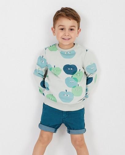 Lichtgroene sweater met print