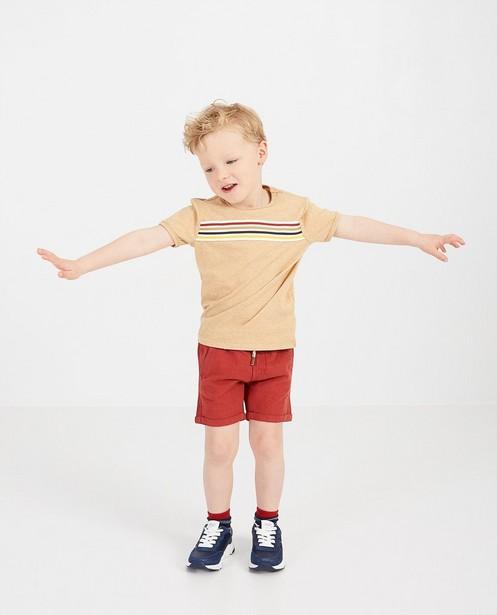 Beige T-shirt met strepen Samson - gemêleerd - Samson