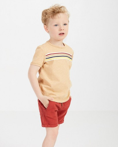 Beige T-shirt met strepen Samson