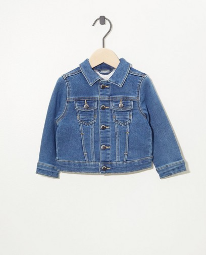 Veste bleue en sweat denim
