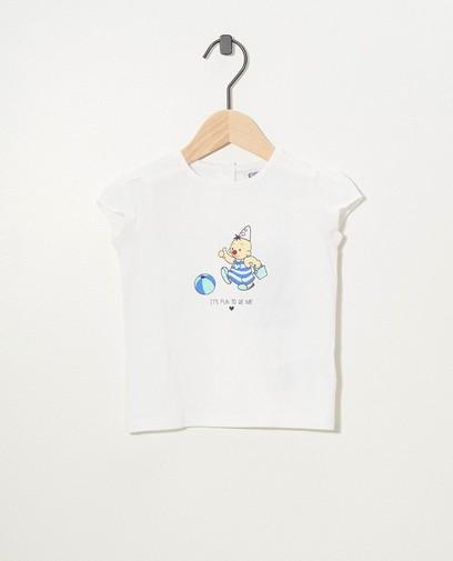 T-shirt blanc, imprimé Bumba