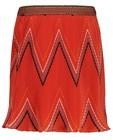 Oranje plissérok Tumble 'n Dry - met zigzagpatroon - Tumble 'n Dry