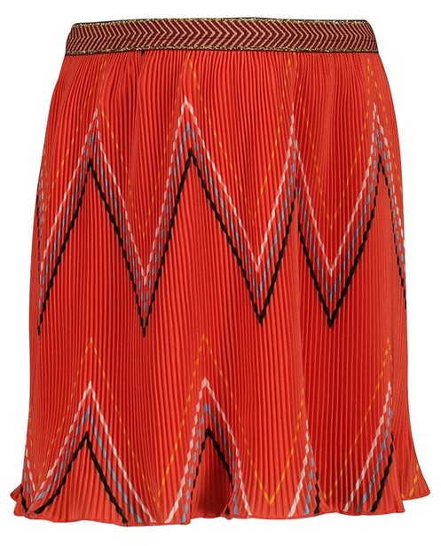 Rokken - Oranje plissérok Tumble 'n Dry