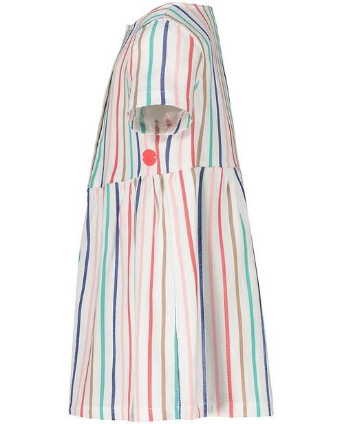Robes - Robe blanche, rayures Sora