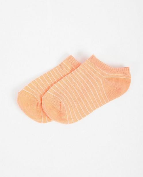 Socquettes roses à rayures - imprimé intégral - JBC