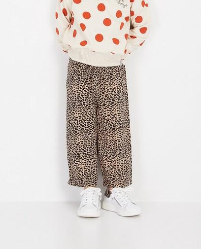 Pantalon beige imprimé Looxs