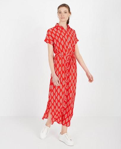 Rode jurk met print Sora