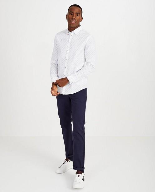 Wit hemd met print - Slim fit - Quarterback