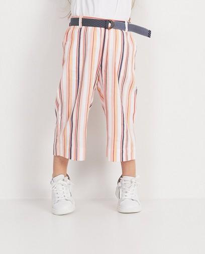 Jupe-culotte rose rayée Plop