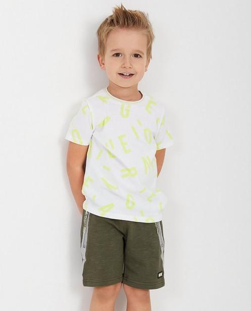 T-shirts - Wit T-shirt met print Rox