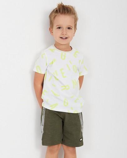 T-shirt blanc, imprimé Rox