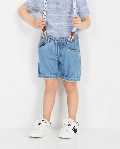 Blaue Shorts mit Hosenträgern Wickie
