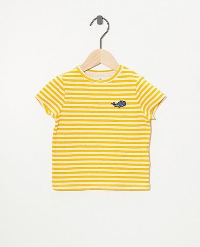 T-shirt jaune à rayures