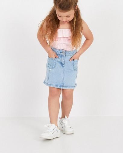 Lichtblauwe rok van denim K3