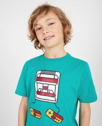 Groen shirt met print Gers Pardoel
