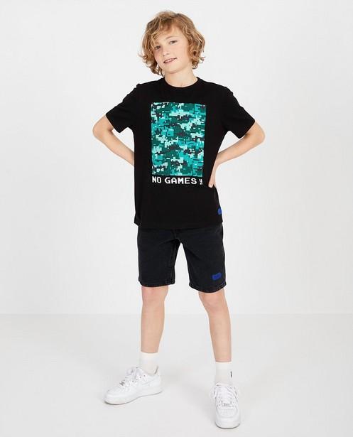 Zwart shirt met print Gers Pardoel - null - Gers Pardoel