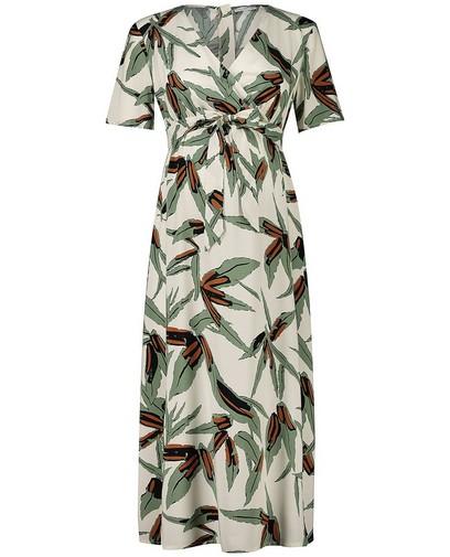 Beige jurk met print JoliRonde