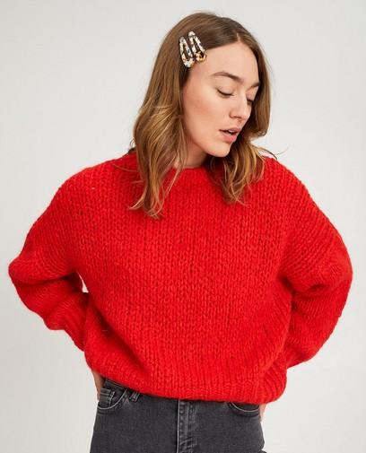 Rode gebreide trui