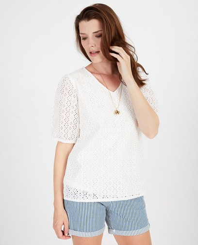 Blouse met broderie anglaise Sora