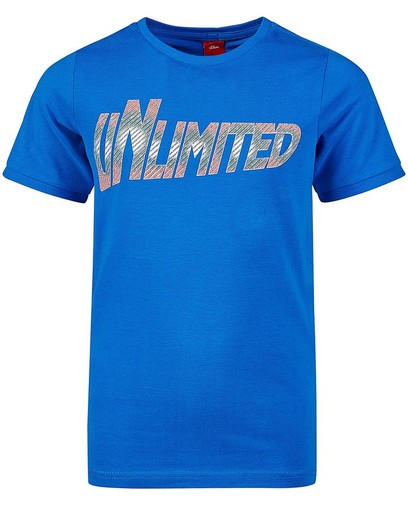 T-shirt bleu à imprimé s.Oliver